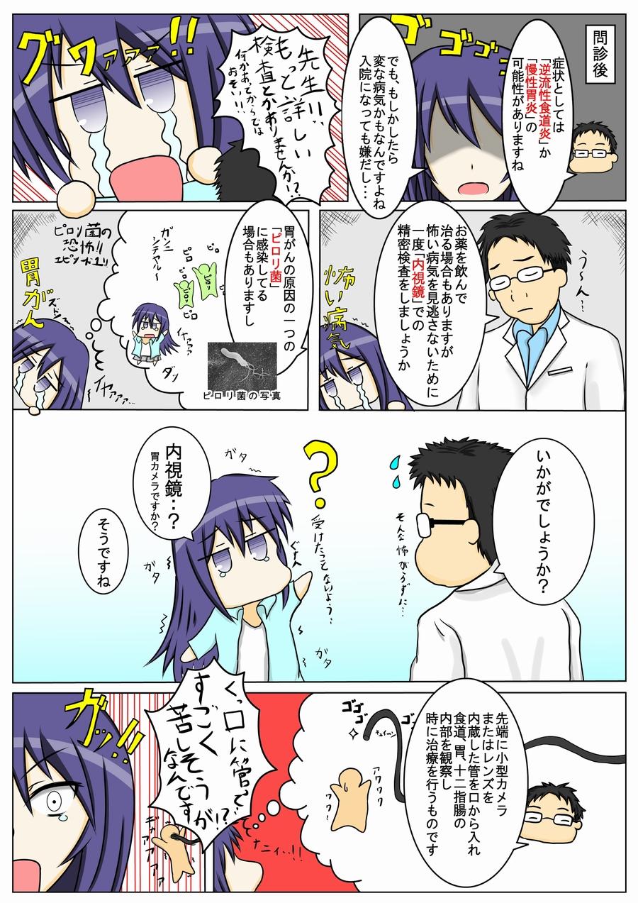 【マンガでわかる】上部消化管内視鏡検査_P2